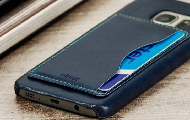 Olixar Leather-Style Samsung Galaxy S7 Card Slot Case - Blue