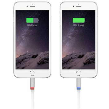 Deff Lightning & Micro USB Tangle-Free Light Up Cable with LED