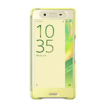 Official Sony Xperia X Style Cover Touch Case - Lime Gold