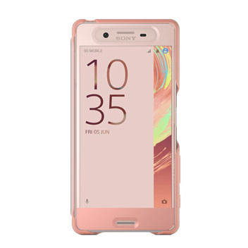 Official Sony Xperia X Style Cover Touch Case - Rose Gold