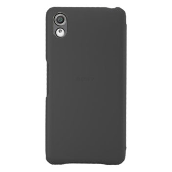 Official Sony Xperia X Style Cover Flip Case - Graphite Black