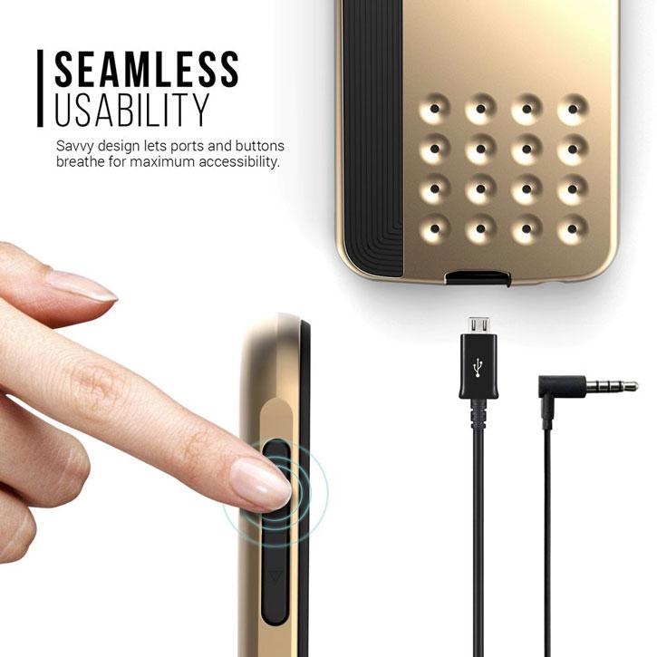 Caseology Threshold Series Samsung Galaxy S6 Slim Armour Case - Gold
