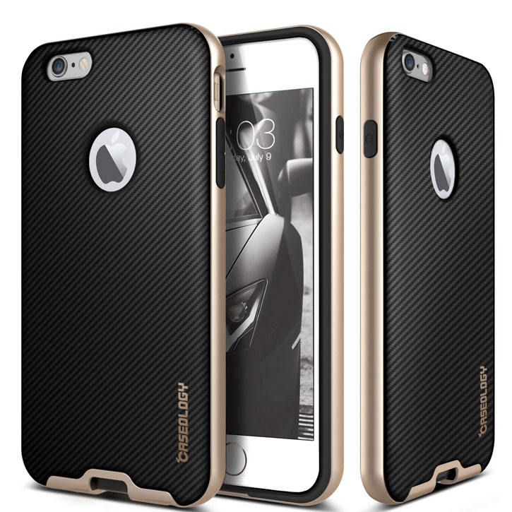 Caseology Bumper Frame iPhone 6S / 6 Case - Carbon Fibre