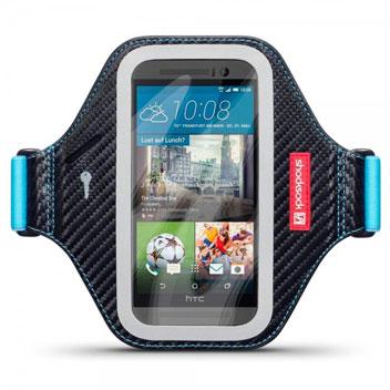 Shocksock Premium HTC One M9 Armband - Black / Blue