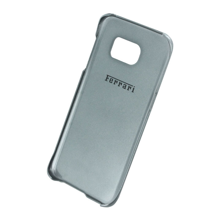 70ad18359 Ferrari 488 Genuine Leather Samsung Galaxy S7 Edge Hard Case - Black