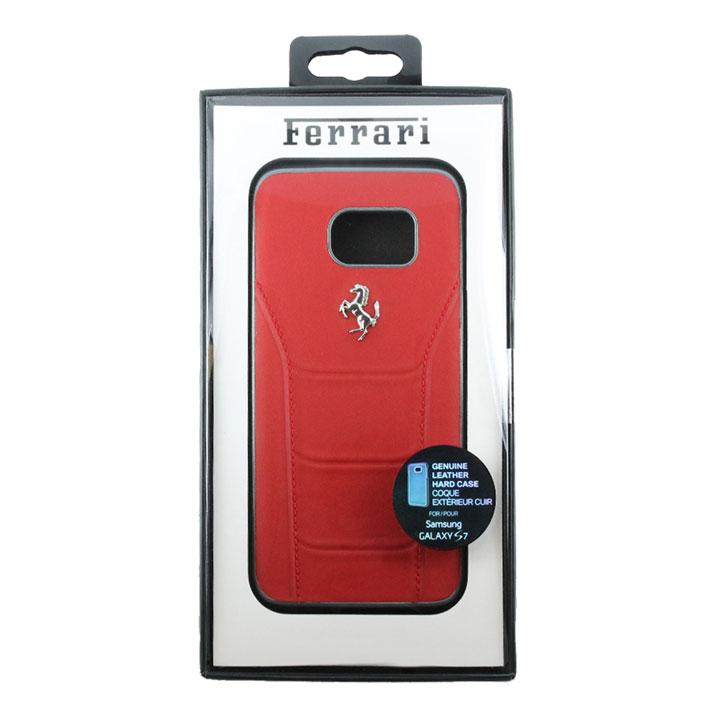Ferrari 488 Genuine Leather Samsung Galaxy S7 Hard Case - Red