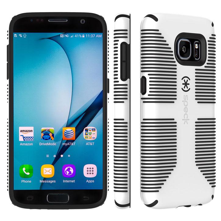 new concept e9237 dcb95 Speck CandyShell Grip Samsung Galaxy S7 Case - White / Black