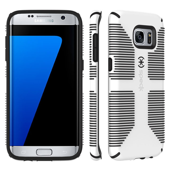 Speck CandyShell Grip Samsung Galaxy S7 Edge Case - White / Black