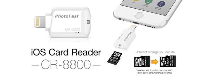 Photofast MFi CR-8800 iOS Micro SD Card Reader- White