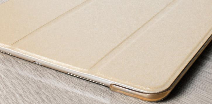 Olixar Apple iPad 2017 Folding Stand Smart Case - Gold / Clear
