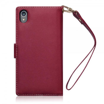 Olixar Leather-Style Sony Xperia Z5 Wallet Case - Floral Red
