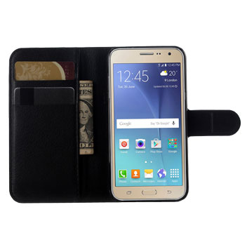 Olixar Samsung Galaxy J3 Wallet Case - Black
