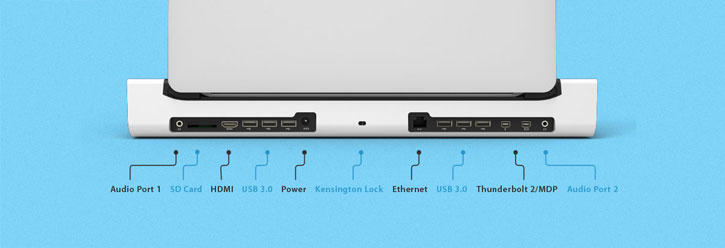 Henge Docks 13 inch MacBook Pro Retina Horizontal Metal Docking Station