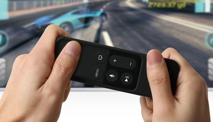 Elago R1 Intelli Apple TV Siri Remote Case with Strap - Black