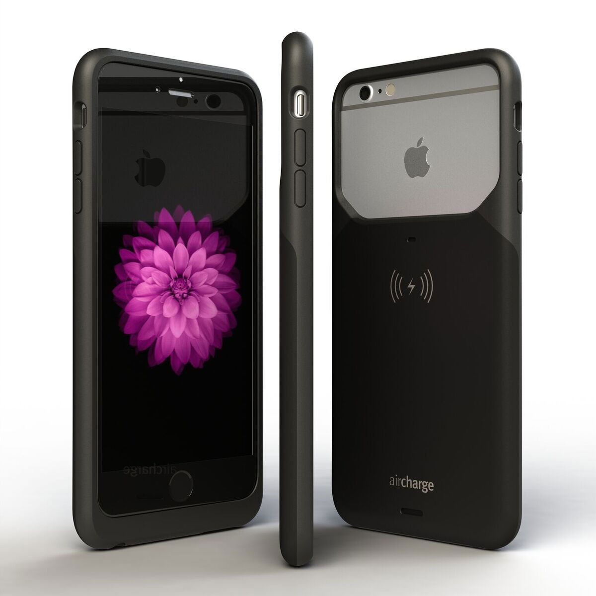 aircharge MFi iPhone 6S Plus / 6 Plus Wireless Charging Case - Black