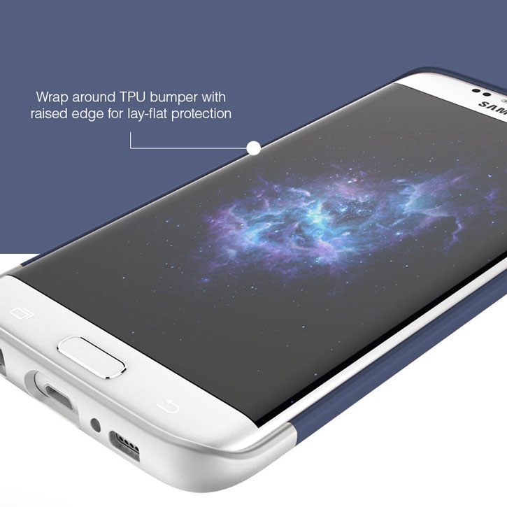 Prodigee Accent Samsung Galaxy S7 Edge Case - Navy Silver