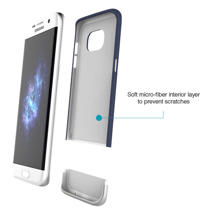 Prodigee Accent Samsung Galaxy S7 Edge Case - Navy Silver
