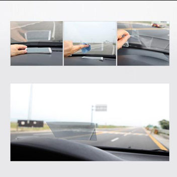 In Car Heads Up Display (HUD) Reflective Film