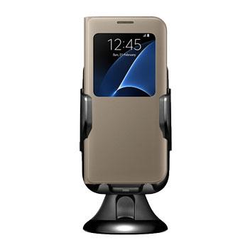 Samsung Galaxy S7 Edge Qi Wireless Charging Car Holder - Black