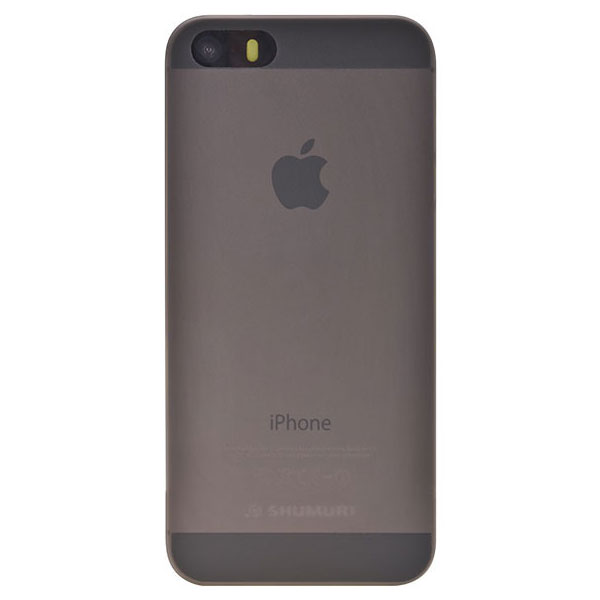 Shumuri Slim iPhone SE Case - Smoke Grey