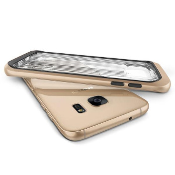 VRS Design Triple Mixx Samsung Galaxy S7 Edge Case - Shine Gold
