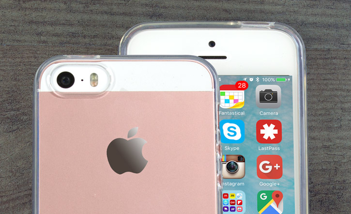 FlexiShield iPhone SE Gel Case - 100% Clear