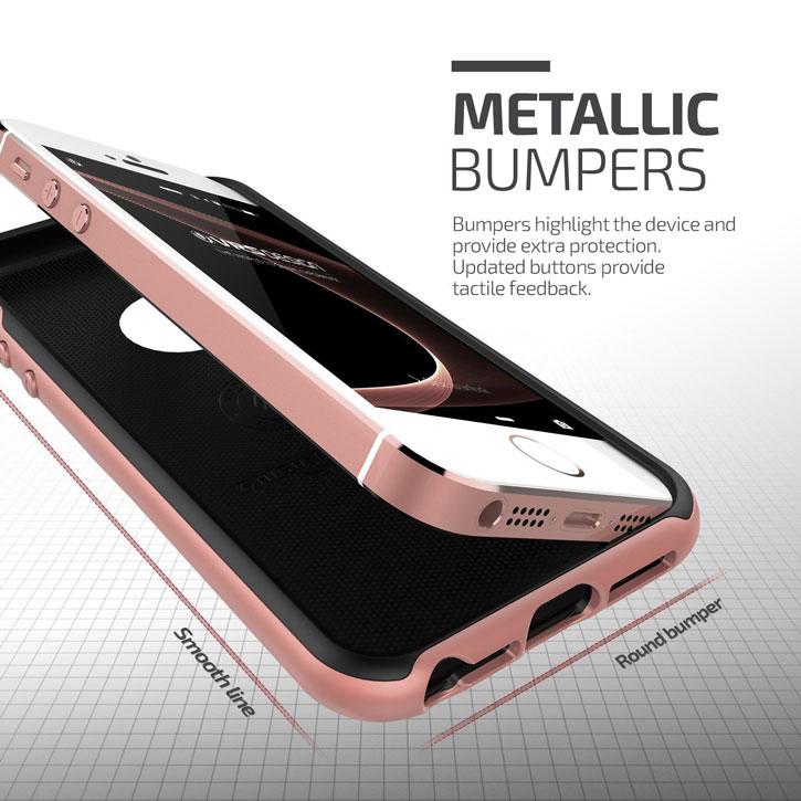VRS Design High Pro Shield iPhone SE Case - Rose Gold