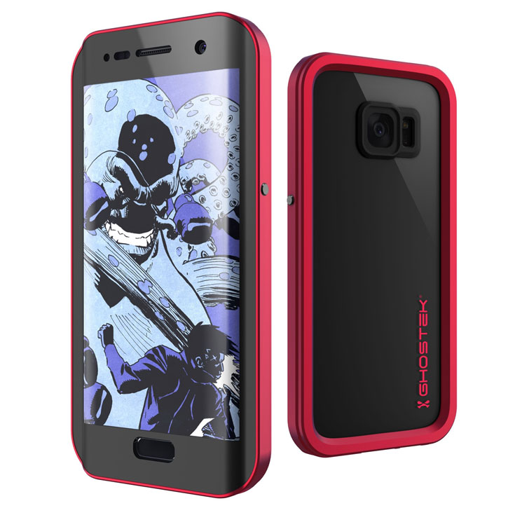 Ghostek Atomic 2.0 Samsung Galaxy S7 Edge Waterproof Case - Red