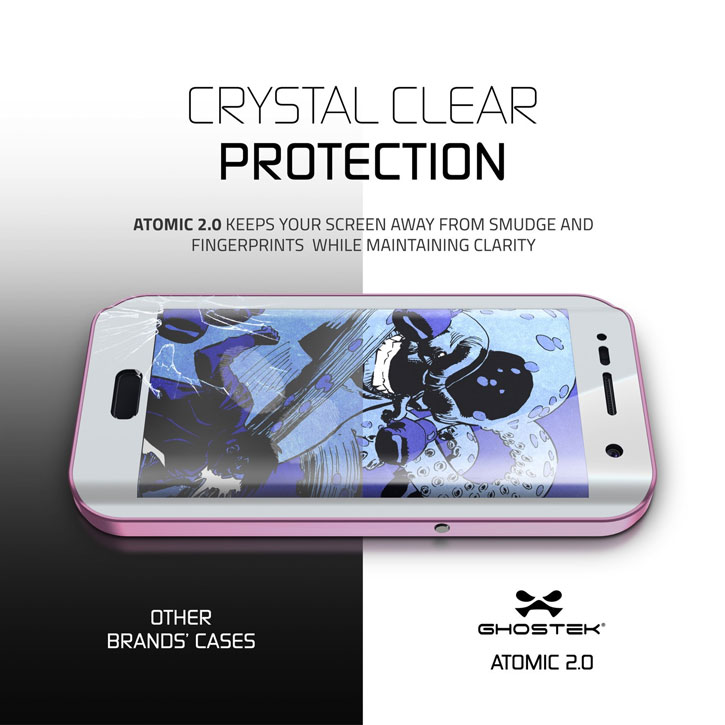 Ghostek Atomic 2.0 Samsung Galaxy S7 Edge Waterproof Case - Pink