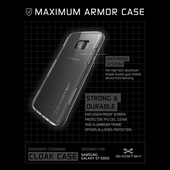 Ghostek Cloak Samsung Galaxy S7 Edge Tough Case - Clear / Black