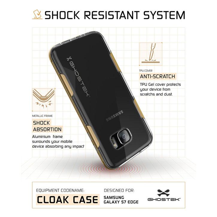 Ghostek Cloak Samsung Galaxy S7 Edge Tough Case - Clear / Gold