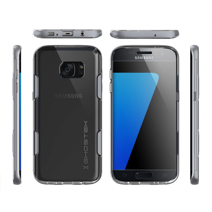 Ghostek Cloak Samsung Galaxy S7 Edge Tough Case - Clear / Silver
