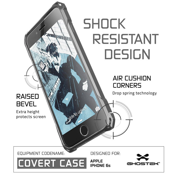 Ghostek Covert iPhone 6S / 6 Protective Case - Black