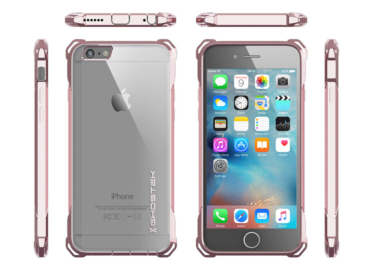 Coque iPhone 6S / 6 Ghostek Covert - Transparent / Rose Or