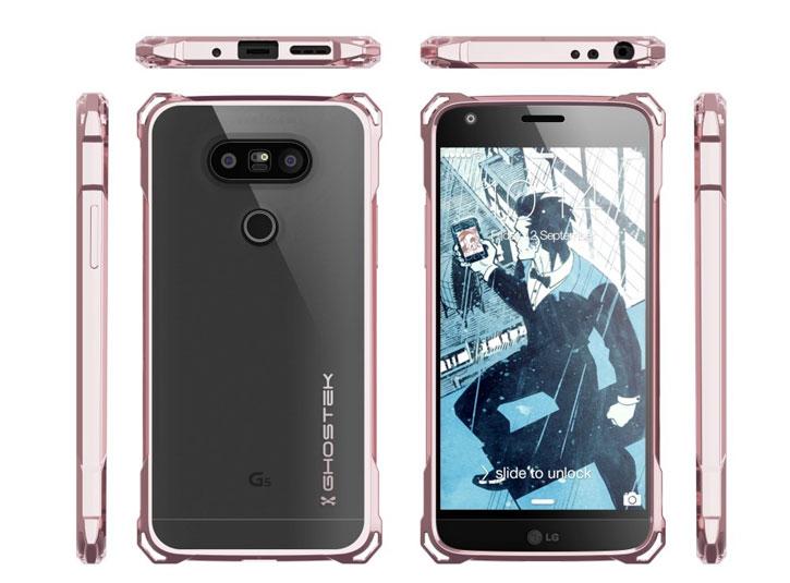 Ghostek Covert LG G5 Bumper Case - Clear / Pink
