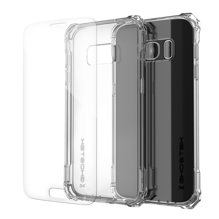 axon ghostek covert samsung galaxy s7 edge bumper case clear red those