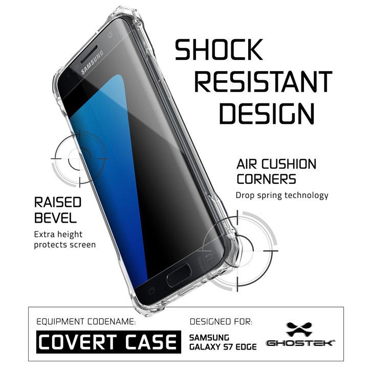 Ghostek Covert Samsung Galaxy S7 Edge Bumper Case - Clear / Pink