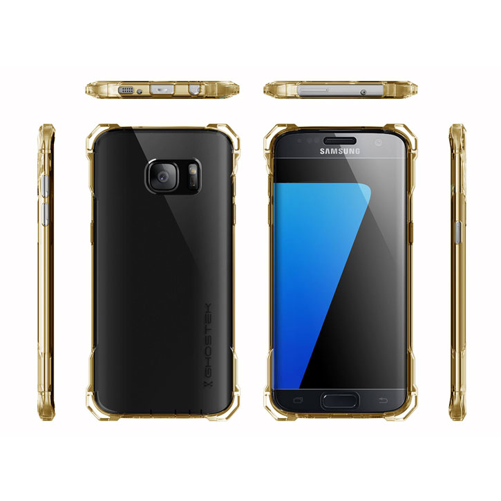 Ghostek Covert Samsung Galaxy S7 Edge Bumper Case - Clear / Gold