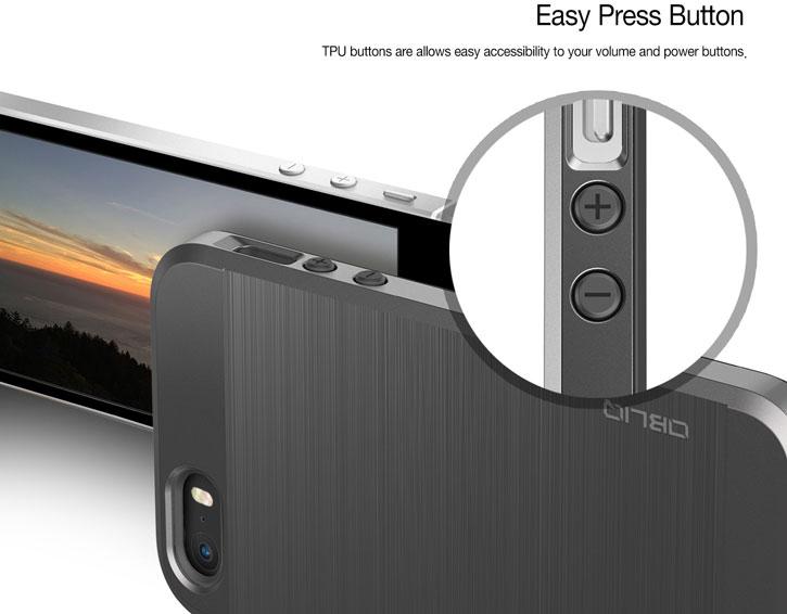 Obliq Slim Meta iPhone SE Case - Titanium Silver