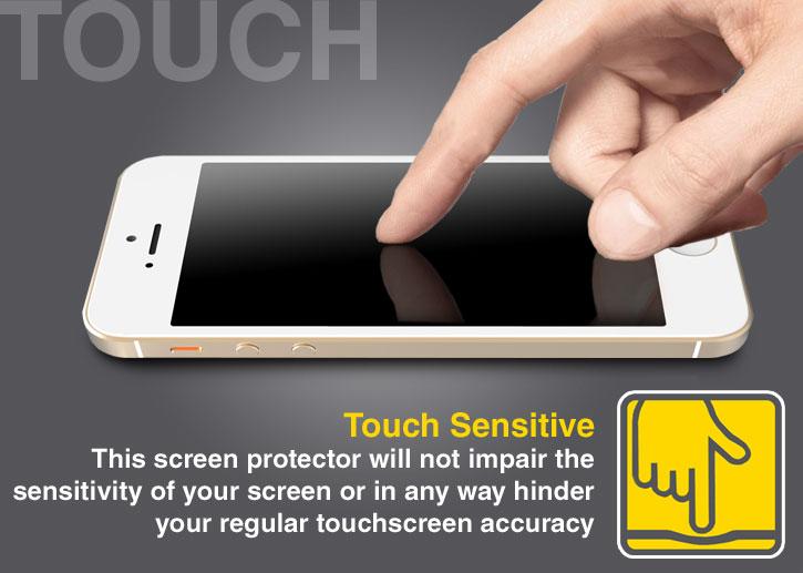 Olixar iPhone SE Anti-Blue Light Tempered Glass Screen Protector
