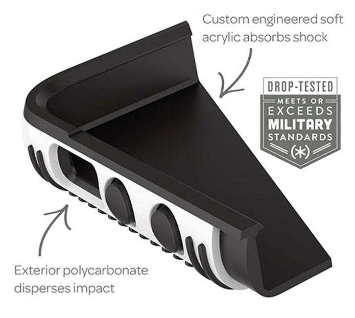 Speck CandyShell Grip iPhone SE Case - Black / Grey