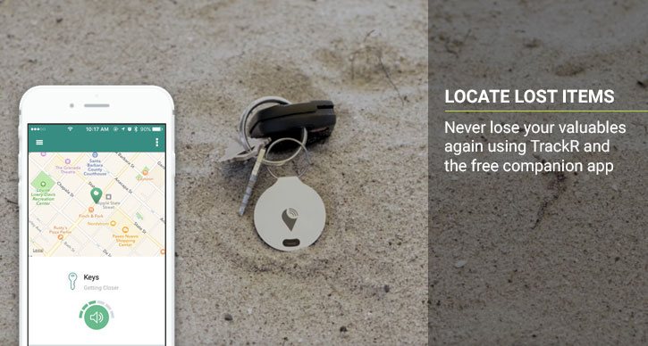 Tracker Bravo Phone and Valuables Bluetooth - Argent