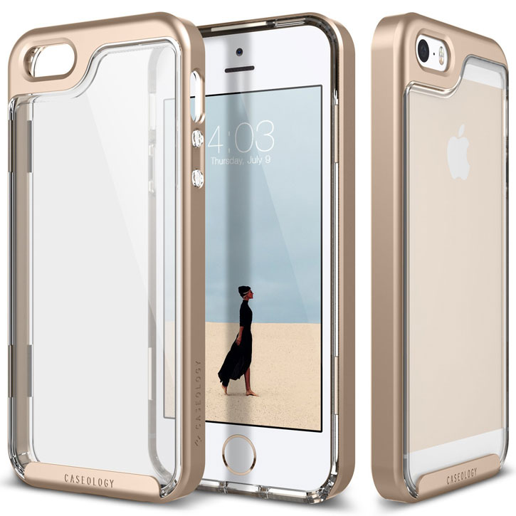 finest selection 6e0a4 a894d Caseology Skyfall Series iPhone SE Case - Gold / Clear