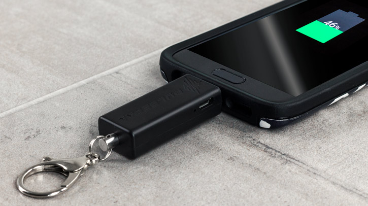 PulsePak Universal Micro USB Key-Chain Emergency Power Bank - Black