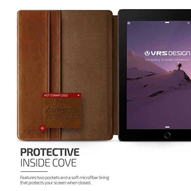 Verus Dandy Leather Style iPad Pro 9.7 inch Case - Dark Brown