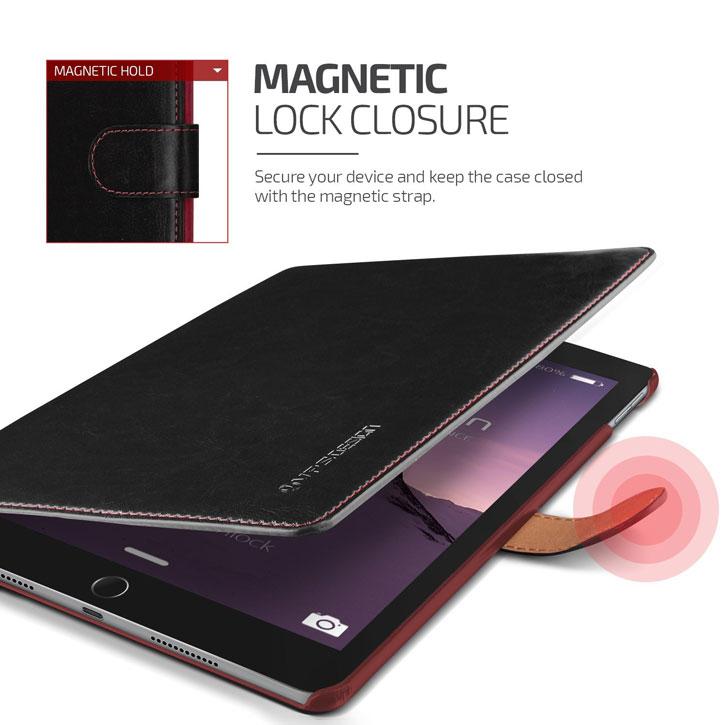Verus Dandy Leather Style iPad Pro 9.7 inch Case - Black