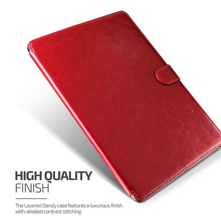 Verus Dandy Leather Style iPad Pro 9.7 inch Case - Wine Red
