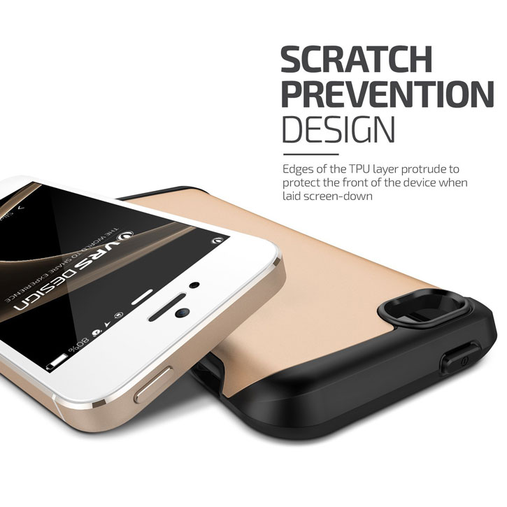 VRS Design Hard Drop iPhone SE Tough Case - Shine Gold