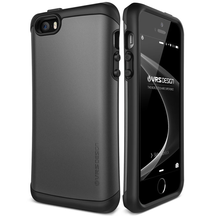 VRS Design Hard Drop iPhone SE Tough Case - Steel Silver