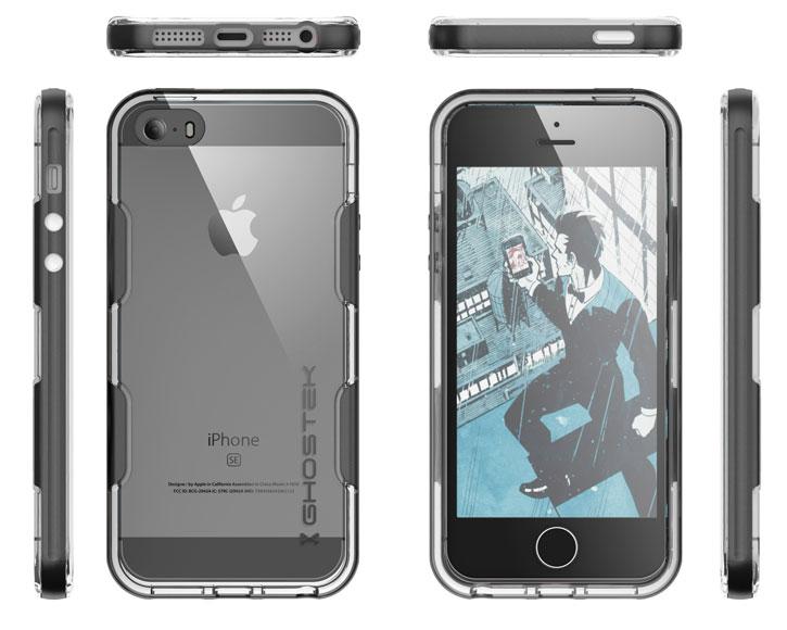 on sale 513df 47571 Ghostek Cloak iPhone SE Aluminium Tough Case - Clear / Space Grey